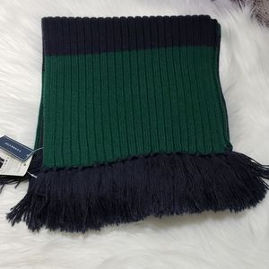 Lands' End Stretch Knit Fringe Scarf Unisex NWT